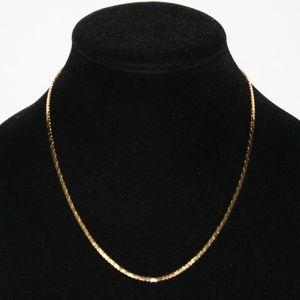 "Vintage gold necklace 18"" long"